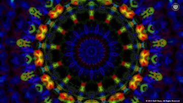 3D HD Trippy Blue Psychedelic Desktop Wallpapers by End Dzyn