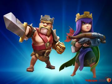 17 Barbarian King And Archer Queen Wallpaper Clash Of Clans