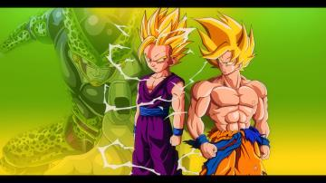 Goku and Gohan vs Cell   DBZ Wallpaper 19201080 by Oirigns on