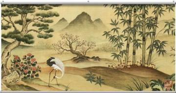 Oriental Landscape Minute Mural   Wall Sticker Outlet
