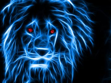Neon Lion by JelletenThij