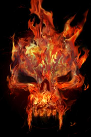Flaming Skull by Chemikal GraphiX