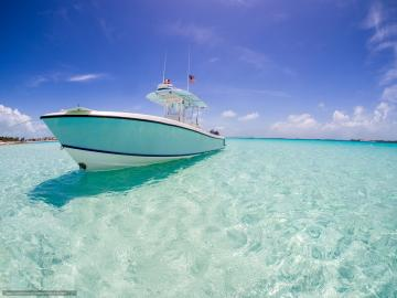 Download wallpaper yacht xhuma Islands Bahamas caribbean sea