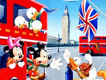 Walt Disney Characters Walt Disney Wallpapers   The Gang in London UK