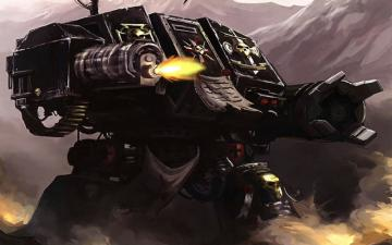 warhammer 40k space marines dreadnought 1280x800 wallpaper Aircraft