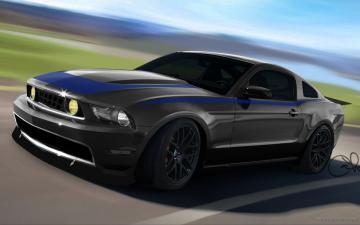 Mustang Black Wallpaper Hd 2010 ford mustang at sema 2009 4 wallpapers