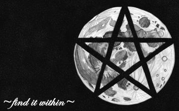 Wiccan Pentacle Wallpaper Wicca moon pentagram by
