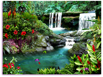 living waterfalls 3 3d screensaver animated waterfall screen