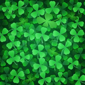 Stock Vector Of Clover Shamrock Green Background To St