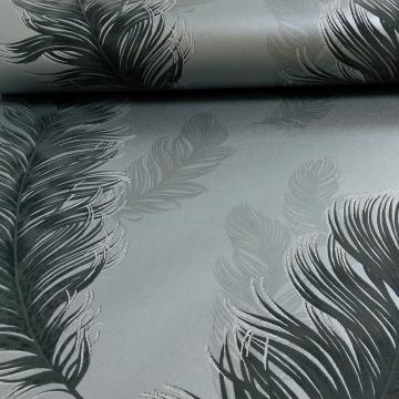 Sirius Feather Pattern Bird Motif Metallic Textured Wallpaper 673602