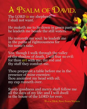 Psalm 23 King James Version PC Android iPhone and iPad Wallpapers