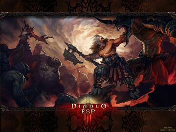 Diablo 3   Barbarian Wallpaper by Lythus