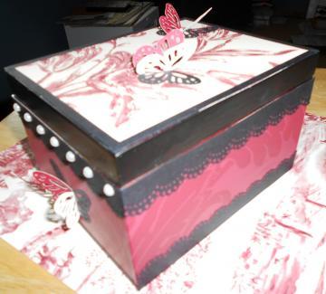 Sheryls Crafting Corner Repurpose cigar box with wall paper samples