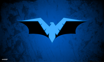 Nightwing   Batman Logo Wallpaper by elclon