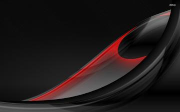 WallSE Black and Red Feather desktop Abstract