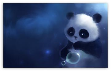 Sad Panda Painting HD desktop wallpaper Widescreen High Definition