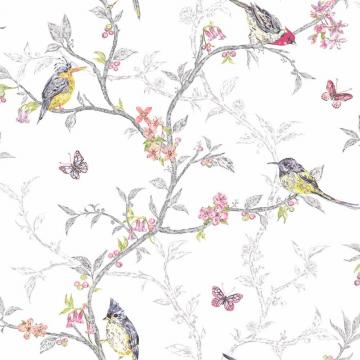 Home White   98080   Phoebe   Birds   Trees   Blossom   Butterflies
