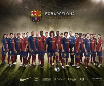 football soccer wallpaper barcelona team squad 01 800x600jpg
