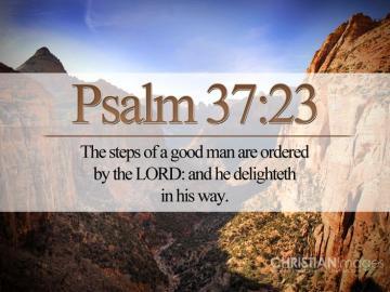 Christian Bible On Line   Psalm 3723 KJV Wallpaper Christian