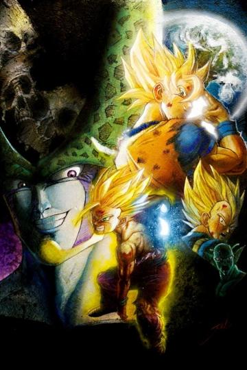 Goku Gohan and cell wallpaper art Manga Pinterest