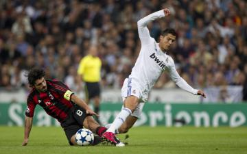 Ronaldo and Gennaro Gattuso Football Player Wallpaper HD Wallpapers