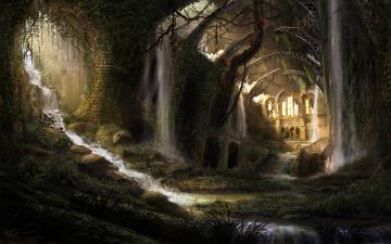 Download Fantasy Pixel Widescreen Medieval Large Dark Wallpaper