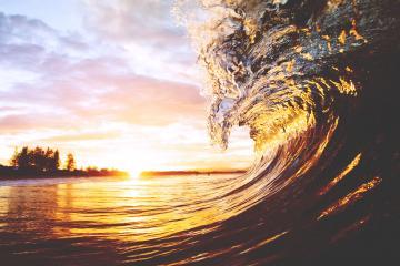 Beach Sunset Desktop Backgrounds HD wallpaper background