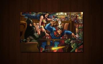 DC Comics Bar Time Wallpapers DC Comics Bar Time HD