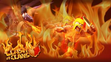 Clash of Clans Barbarian Dragon Event   Wallpaper