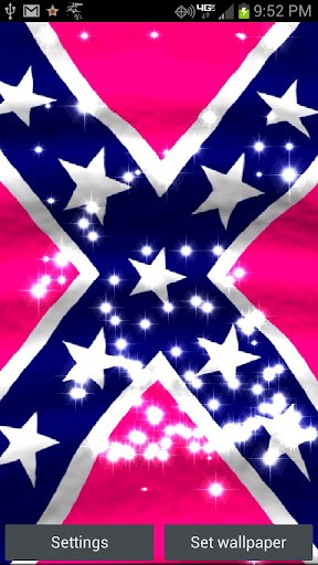 View bigger   Pink rebel Flag Live Wallpaper for Android screenshot