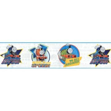 Thomas Tank Train Speed White Wallpaper Border Home Kitchen