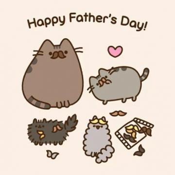 Pusheen Happy Fathers day Pusheen cat Pusheen cute Pusheen