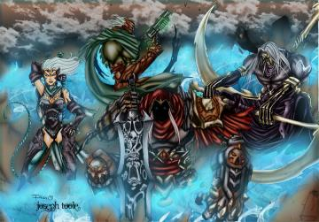 Four Horsemen by TVC DesignsDarksiders 4 Horsemen Wallpaper