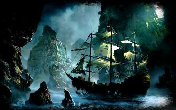 Tags sea ship rocks fantasy world imaginary pirate ship ghost ship