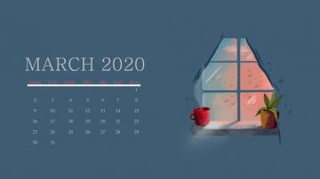 March 2020 Calendar Wallpaper For Desktop Laptop iPhone