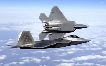 Lockheed Martin F 22 Raptor Wallpaper 1366x768 Pictures