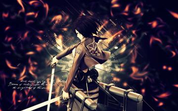 shingeki no kyojin Mikasa wallpaper by suffocator
