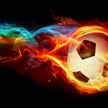 fire soccer ball jpg phone wallpaper by moccacake28
