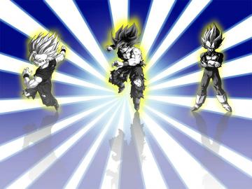 ssj Goku Vegeta and Gohan   Dragon Ball Z Wallpaper 21652367