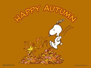 Snoopy happy Autumn   Autumn Wallpaper 25733615