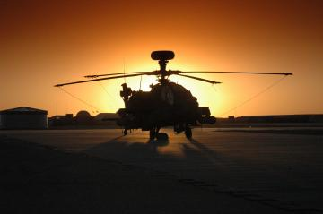 sunset aircraft helicopters vehicles ah 64 apache HD Wallpaper of