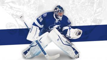 desktop wallpaper featuring Tampa Bay Lightning goaltender Ben