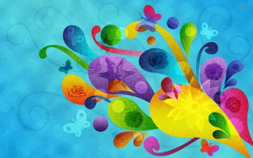 Colorful swirls wallpaper   Abstract wallpapers   691