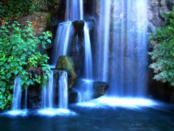 wallpaper Wallpaper Bg Wallpapers Screensavers Tropic Waterfall