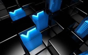 Blue 3D Abstract Desktop Backgrounds