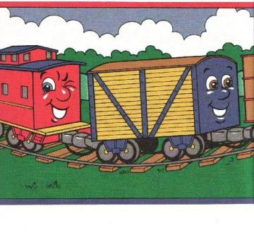 Cartoon Train Border Background   Cartoon Train Border Wallpaper