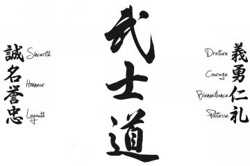 Les vertues du Bushido Blanc by Bushido Le Samurai