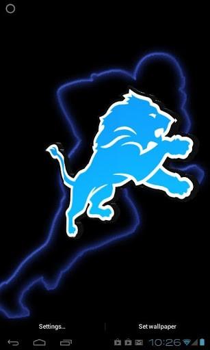 Detroit Lions Iphone Wallpaper Detroit lions 3d live wp app
