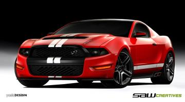 HD Wallpapers 2014 Ford Mustang Concept Car Design