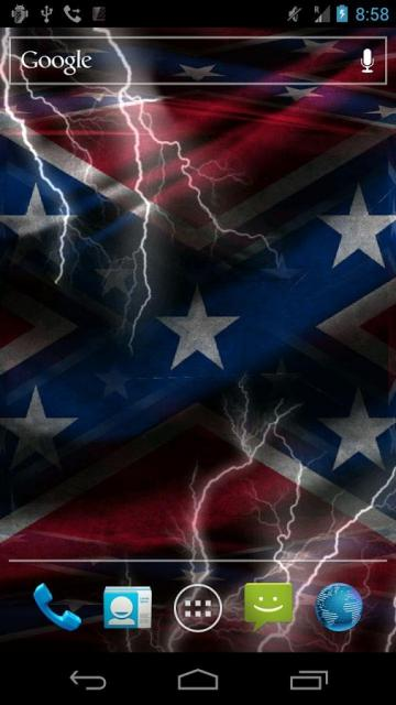3D Rebel Flag Live Wallpaper   screenshot